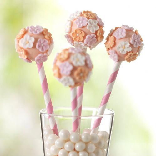 Candy Stripe Cake Pop Sticks - Pink 25 piece